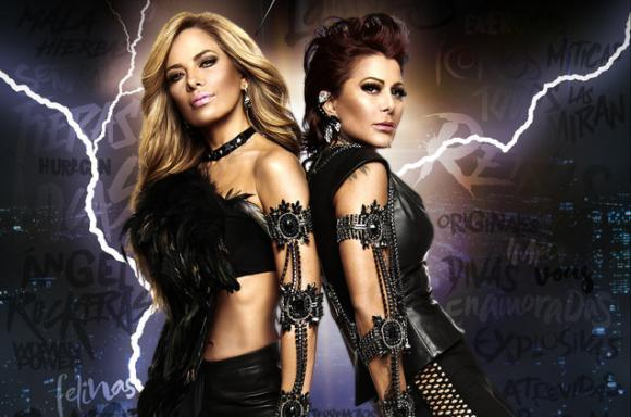Gloria Trevi & Alejandra Guzman at Hollywood Bowl