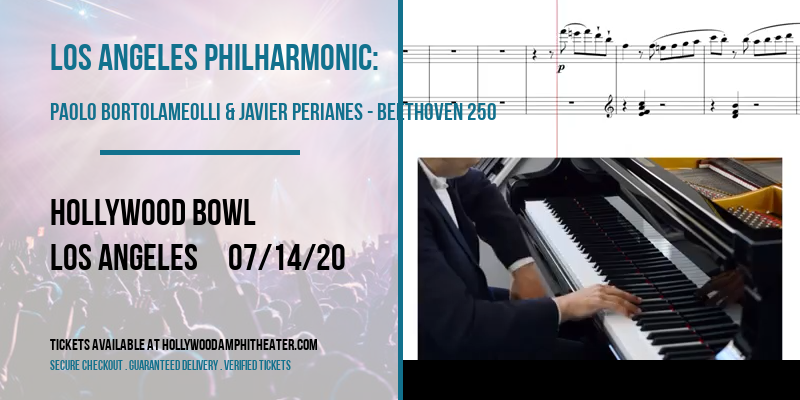 Los Angeles Philharmonic: Paolo Bortolameolli & Javier Perianes - Beethoven 250 at Hollywood Bowl
