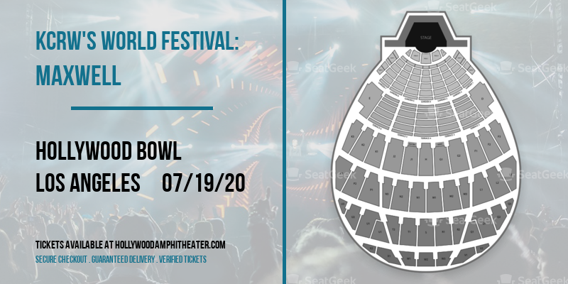 KCRW's World Festival: Maxwell at Hollywood Bowl