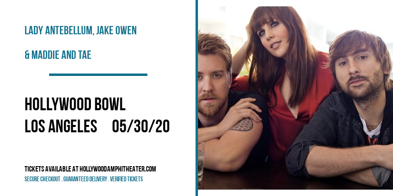 Lady Antebellum, Jake Owen & Maddie and Tae at Hollywood Bowl