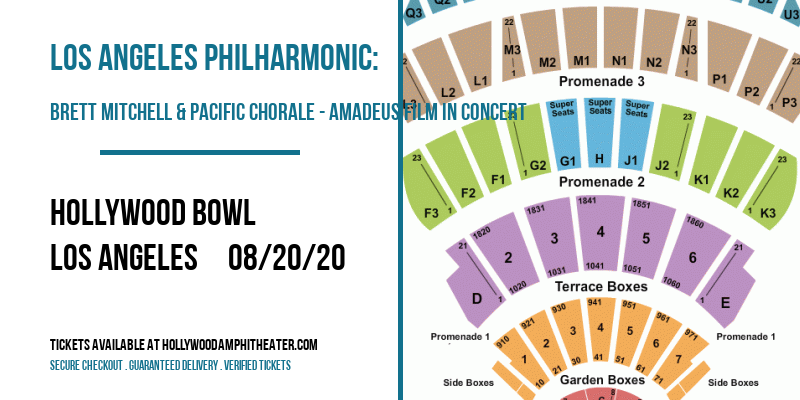 Los Angeles Philharmonic: Brett Mitchell & Pacific Chorale - Amadeus Film in Concert at Hollywood Bowl