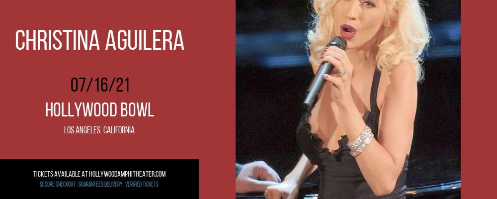 Christina Aguilera at Hollywood Bowl